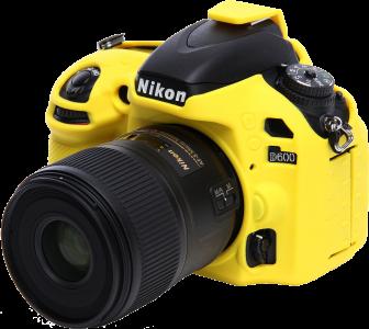 EASYCOVER silikonové pouzdro pro Nikon D600 žluté