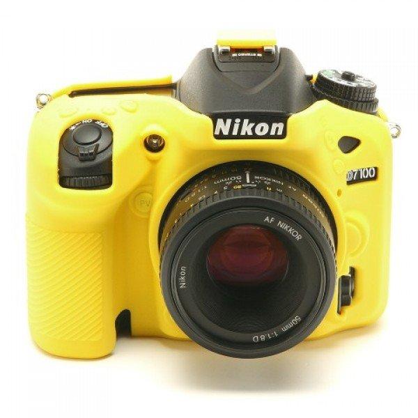EASYCOVER silikonové pouzdro pro Nikon D7100 žluté