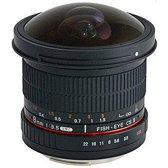 SAMYANG 8 mm f/3,5 UMC Fish-eye CS II pro Nikon F AE (APS-C)