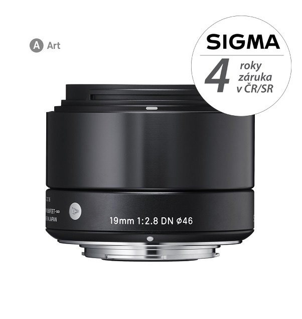 SIGMA 19 mm f/2,8 DN Art černý pro Sony E (APS-C)
